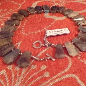 Natural Gemstone & Silver Necklace